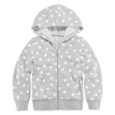 jcpenney.com | Okie Dokie® Long-Sleeve Print Fleece Hoodie - Toddler Girls 2t-5t