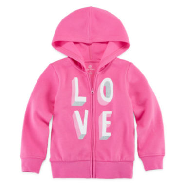 jcpenney.com | Okie Dokie® Long-Sleeve Graphic Hoodie - Toddler Girls 2t-5t