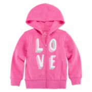 Okie Dokie® Long-Sleeve Graphic Hoodie - Toddler Girls 2t-5t