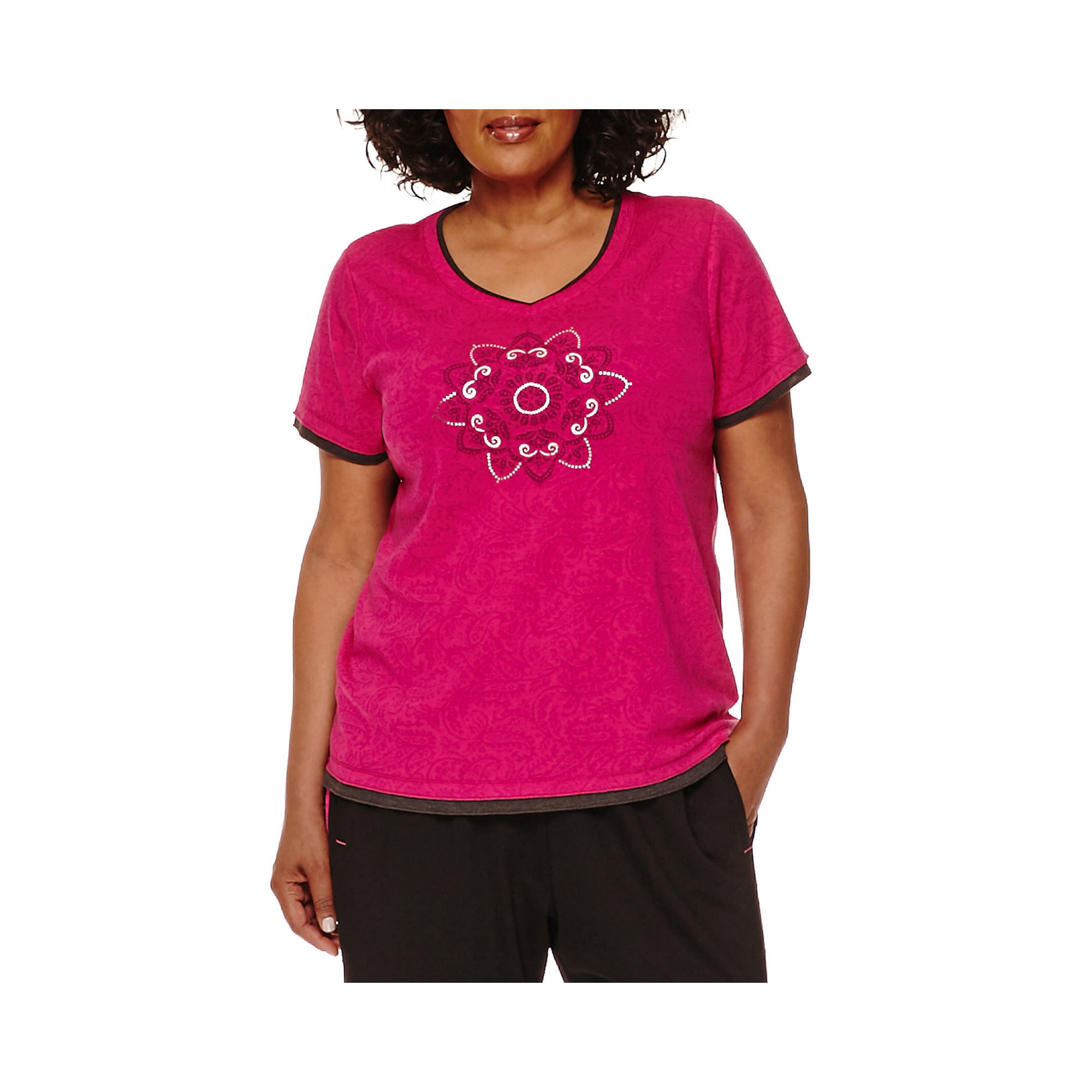 Made for Life™ Vintage Paisley Graphic Layered Top - Plus plus size,  plus size fashion plus size appare