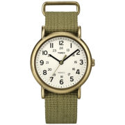 Timex® Weekender Women's Green Nylon Strap Watch