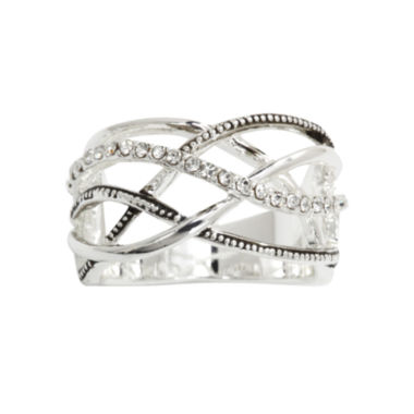 jcpenney.com | city x city® Crisscross Crystal-Accent Sterling Ring