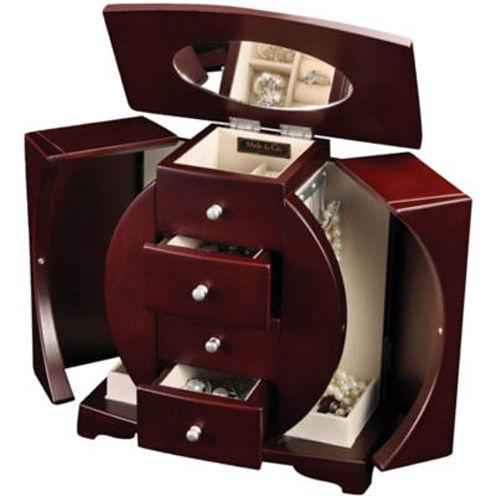 Mahogany Upright Oval Jewelry Box