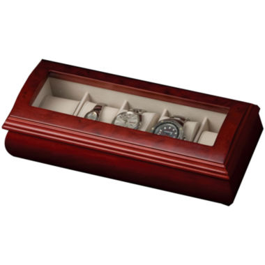jcpenney.com | Cherry Glass Top Watch Box