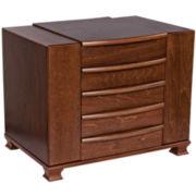 Antique Walnut Jewelry Box