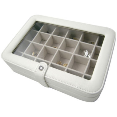 jcpenney.com |  Ivory Faux-Leather Clear-Top Jewelry Box