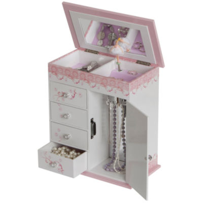 Pink White Ballet Slippers Musical Jewelry Box