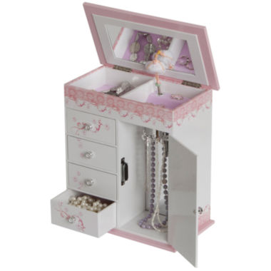 jcpenney.com | Pink & White Ballet Slippers Musical Jewelry Box