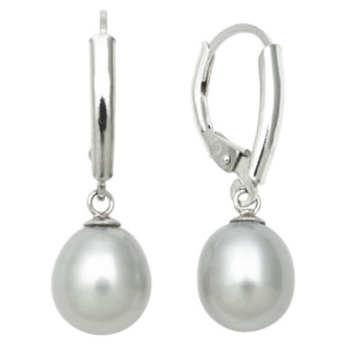 jcpenney.com | Grey Cultured Freshwater Pearl Leverback Earrings