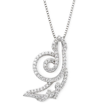 jcpenney.com | Cubic Zirconia Snake Pendant Sterling Silver Necklace