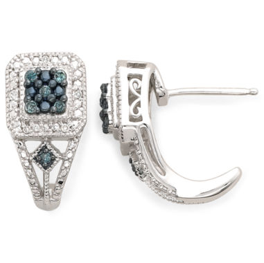 jcpenney.com | 1/10 CT. T.W. White & Color-Enhanced Blue Diamond Earrings
