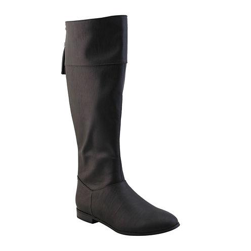 Michael Antonio Billy Flat Riding Boots  - Wide Calf