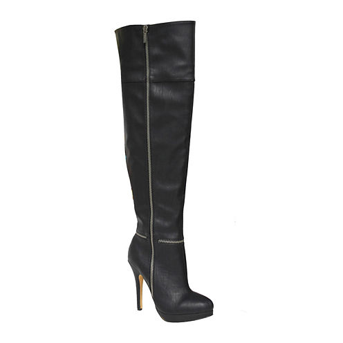 Michael Antonio Wynni Womens Over the Knee Boots- Wide Calf