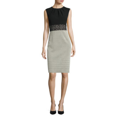 jcpenney.com | London Style Collection Sleeveless Sheath Dress