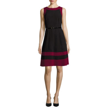 jcpenney.com | Alyx® Sleeveless Colorblock Trim Fit-and-Flare Dress
