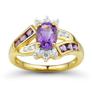 jcpenney.com | Genuine Amethyst & Lab-Created White Sapphire Ring