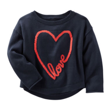 jcpenney.com | OshKosh B'Gosh® Long-Sleeve Heart Sweater - Preschool Girls 4-6x