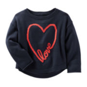 OshKosh B'Gosh® Long-Sleeve Heart Sweater - Preschool Girls 4-6x