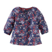 OshKosh B'Gosh® Long-Sleeve Floral Peasant Top - Preschool Girls 4-6x