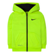 Nike® Dri-FIT Long-Sleeve Full-Zip Hoodie - Toddler Boys 2t-4t
