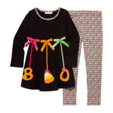 jcpenney.com | Bonnie Jean® 2-pc. Boo Ornaments Top and Leggings Set - Toddler Girls 2t-4t