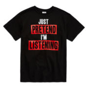 Short-Sleeve Pretend Listen Tee