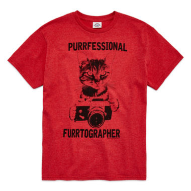 jcpenney.com | Short-Sleeve Camera Cat Tee