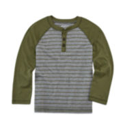 Arizona Long-Sleeve Fashion Henley Tee - Preschool Boys 4-7