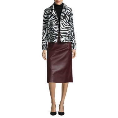 jcpenney.com | Liz Claiborne® Zebra Trench Coat, Turtleneck or Faux-Leather A-Line Skirt