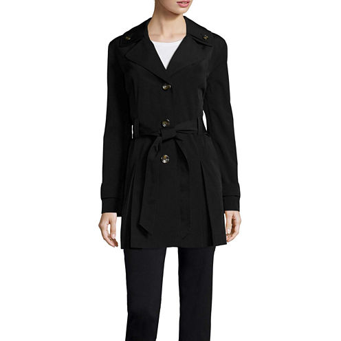 Liz Claiborne® Double Collar Belted Trench Coat - Tall