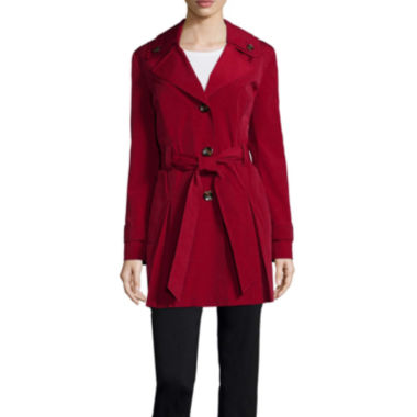 jcpenney.com | Liz Claiborne® Double Collar Belted Trench Coat - Tall