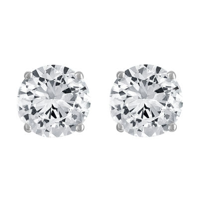 161591b23 Limited Time Special! Lab Created White Sapphire Stud Earrings in ...