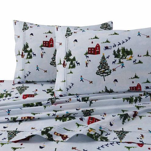Tribeca Living North Pole Flannel Sheet Set