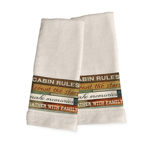 Laural Home Cabin Rules 2-pc. Hand Towel