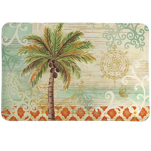 Laural Home Spice Palm Memory Foam Bath Rug
