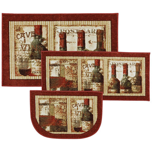 Mohawk Home New Wave French Cellar Printed Rectangular 3-pc. Rug Set