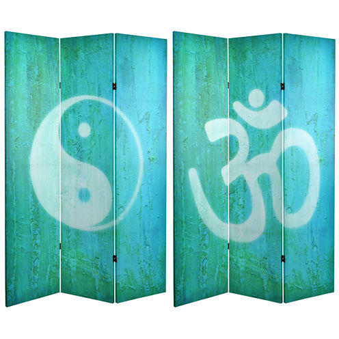Oriental Furniture 6' Yin Yang Om Room Divider