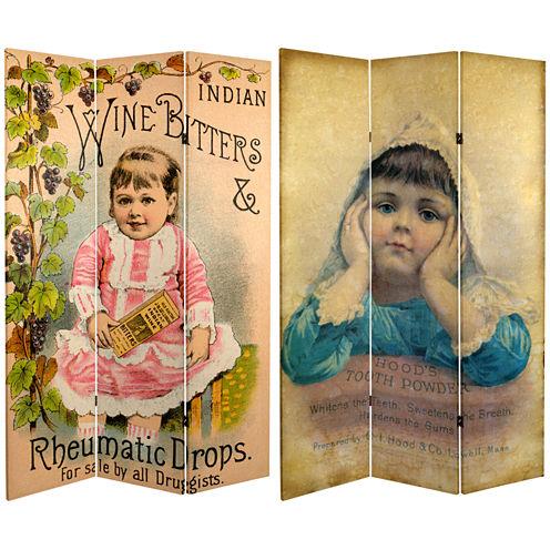 Oriental Furniture 6' Vintage Children Room Divider