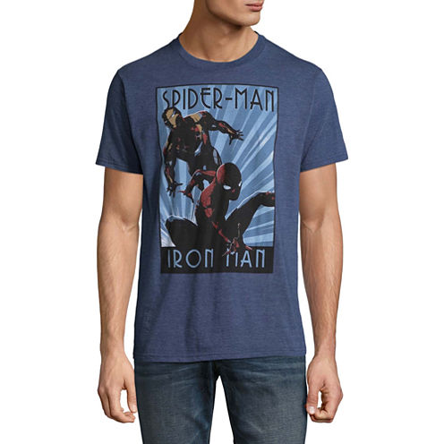 Short Sleeve Iron Man Graphic T-Shirt