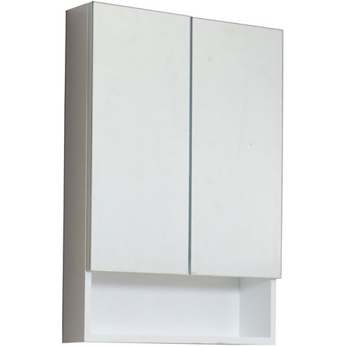 American Imaginations 23.5-in. W x 31-in. H ModernPlywood-Veneer Medicine Cabinet In White