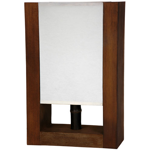 "Oriental Furniture 15"" Zen Modern Decorative TableLamp"""