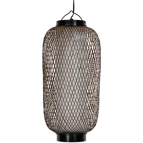 """Oriental Furniture 19"""" Kirosawa Japanese Hanging Lantern Table Lamp"""""""