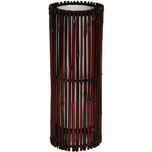 """Oriental Furniture 17"""" Kobiyashi Japanese Bamboo Lantern Table Lamp"""""""