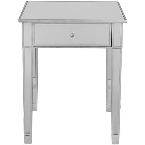 """Mirrored Illusion 28"""" Accent Table"""