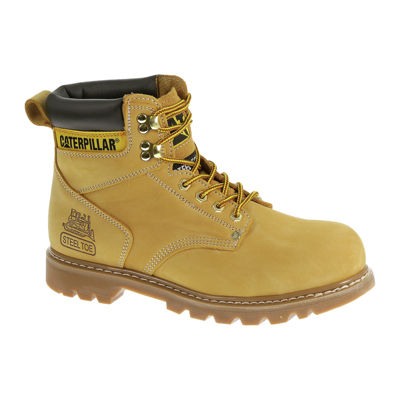 Cat Second Shift Mens Leather Steel Toe Work Boots Jcpenney