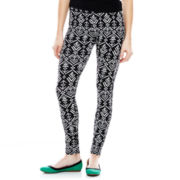 Mixit™ Aztec Print Knit Leggings