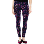 Mixit™ Flower Print Knit Leggings - Petite