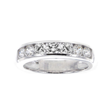 jcpenney.com | DiamonArt® Cubic Zirconia Sterling Silver Channel-Set Ring
