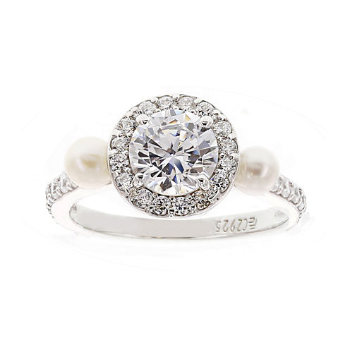 DiamonArt® Cubic Zirconia Sterling Silver Round Ring