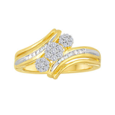 jcpenney.com | diamond blossom 1/4 CT. T.W. Diamond Cluster Bypass Ring